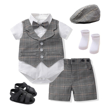 Модная одежда для маленьких мальчиков костюм изящный комплект одежды для младенцев вечерние платье для девочек на день рождения для новоро...