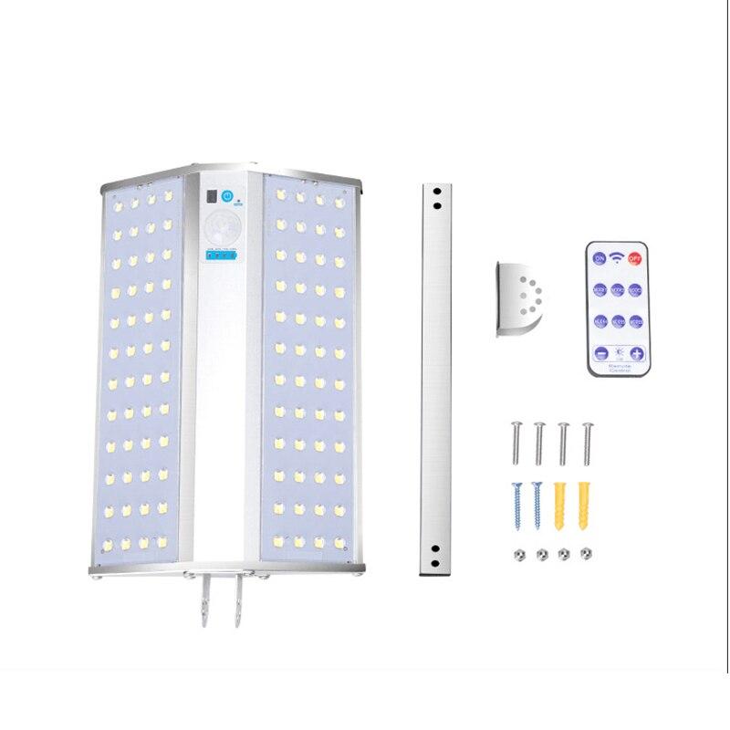 Luz solar SZYOUMY impermeable al aire libre 96 LED 6 Modo doble cara Sensor de movimiento Solar luz de jardín con control remoto