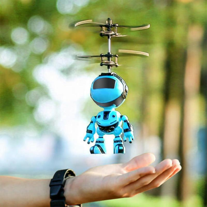 Mini Induction Aircraft Light Suspension Robot Rechargeable Flying Toys Induction Drone LED Induction Kid Electric Rc Toys Gifts