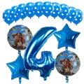 15 шт./лот, воздушные шары Моана, 30 дюймов, синие шары с цифрами, тема Моана, украшение на день рождения, детские игрушки, воздушные шары, подарк...