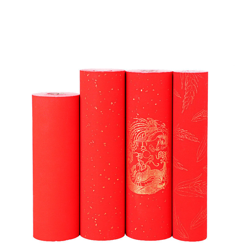 Chinese Spring Festival Couplets Half Ripe Red Xuan Paper For Lucky Money Envelope Paper Cutting Calligraphy Red Xuan Paper