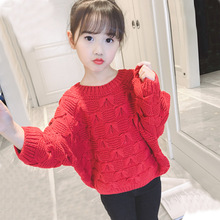 New Autumn Toddlers Girls Sweaters Solid  Kids Clothes Tops Soft Baby Knitted Pullovers Cute Child Sweater 3 Colors