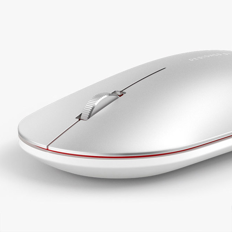 Image 2 - Newest Xiaomi Bluetooth mouse Mi fashion Wireless Mouse Game Mouses 1000dpi 2.4GHz WiFi link Optical Mouse Metal Portable MouseMice   - AliExpress