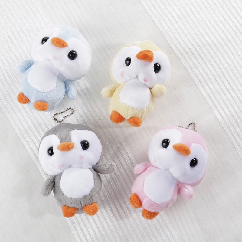 10cm Penguin Doll KeyChain Grey Sitting Plush Stuffed Toys Bouquet Gift Plush Toy Stuffed Cat Doll Gift