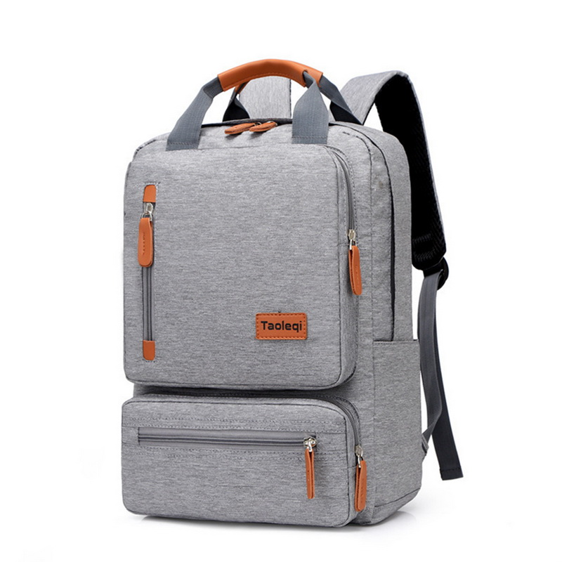 Notebook Backpack Laptop-Bag Light Travel Rucksack Business Casual Men Dos Gray title=