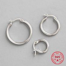 100% S925 Sterling Silver Simple Personality Geometric Hollow Earrings