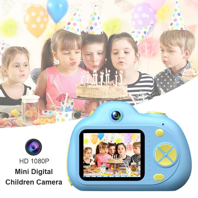 D6 2.0 Inch Dual Lens Children Mini DSLR Camera 32GB Video Photo Camera For Kids Professional 17mm Diameter Wide Viewing Angle