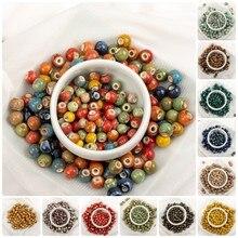 6 #8 #100 peças china cerâmica colorido grânulos bandmade procelain grânulo para fazer jóias frete grátis # a507c
