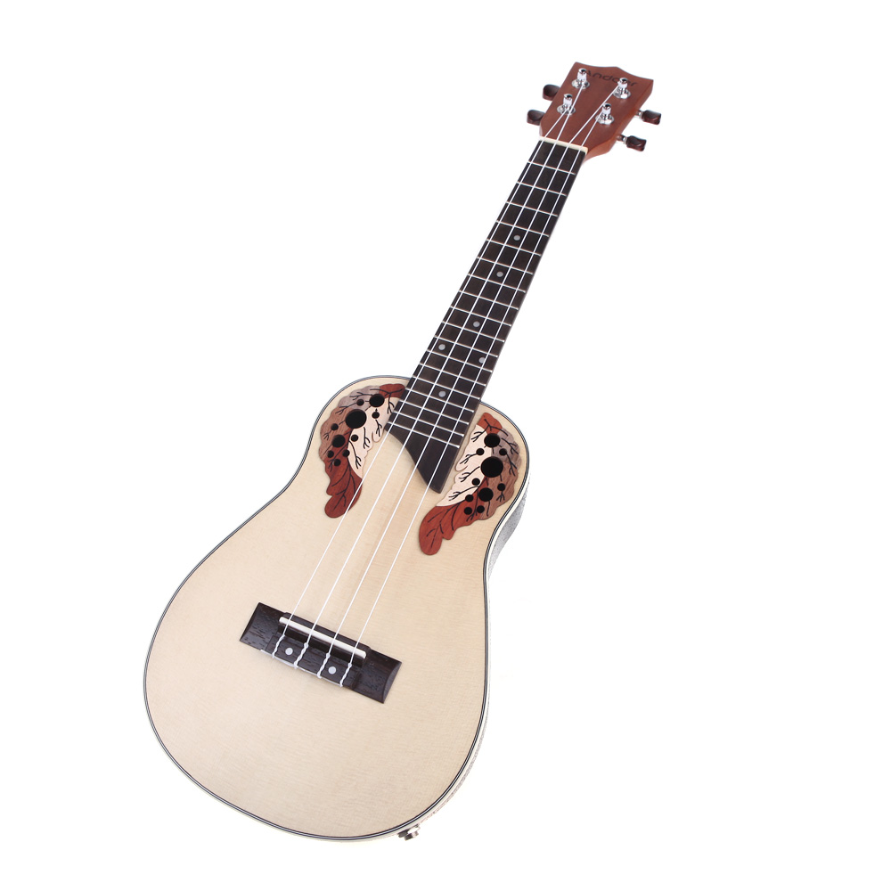 Ukelélé ukulélé Compact 23 ''épicéa hawaïen palissandre pont de Fretboard Aquila Concert Instrument à cordes avec égaliseur intégré