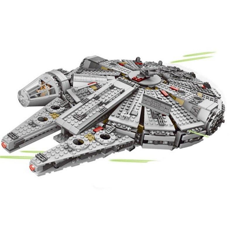 Starwars NEW 1381Pcs OLEKU Millennium Compatible Lepinblock Star Wars Set Bricks Models & Building Blocks Toys For Children