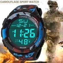 HONHX Luxury Top Brand Watch Men Analog Digital Watch Milita