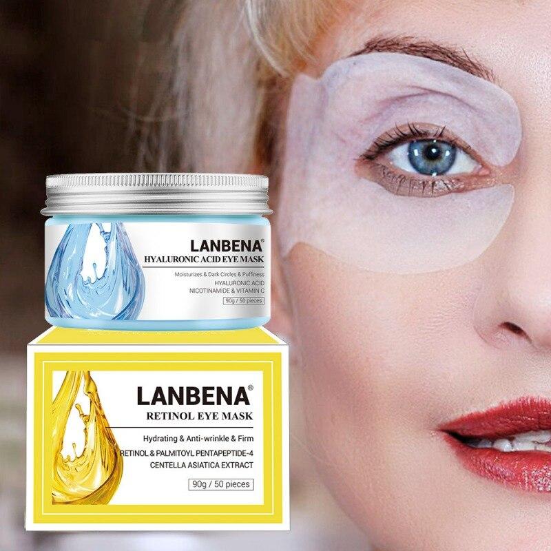Eye-Mask LANBENA Skin-Care Firming Reduce-Dark-Circles Moisturizing Eyes Hyaluronic-Acid