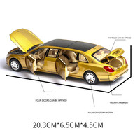 1:32 Maybach S650 Alloy 6 Open Door Extended Version Simulation Vehicle Model Wholesale7retail Drop shipping Toys for Children