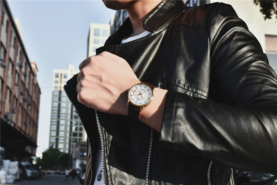 alta qualidade, relógio de quartzo para homens,