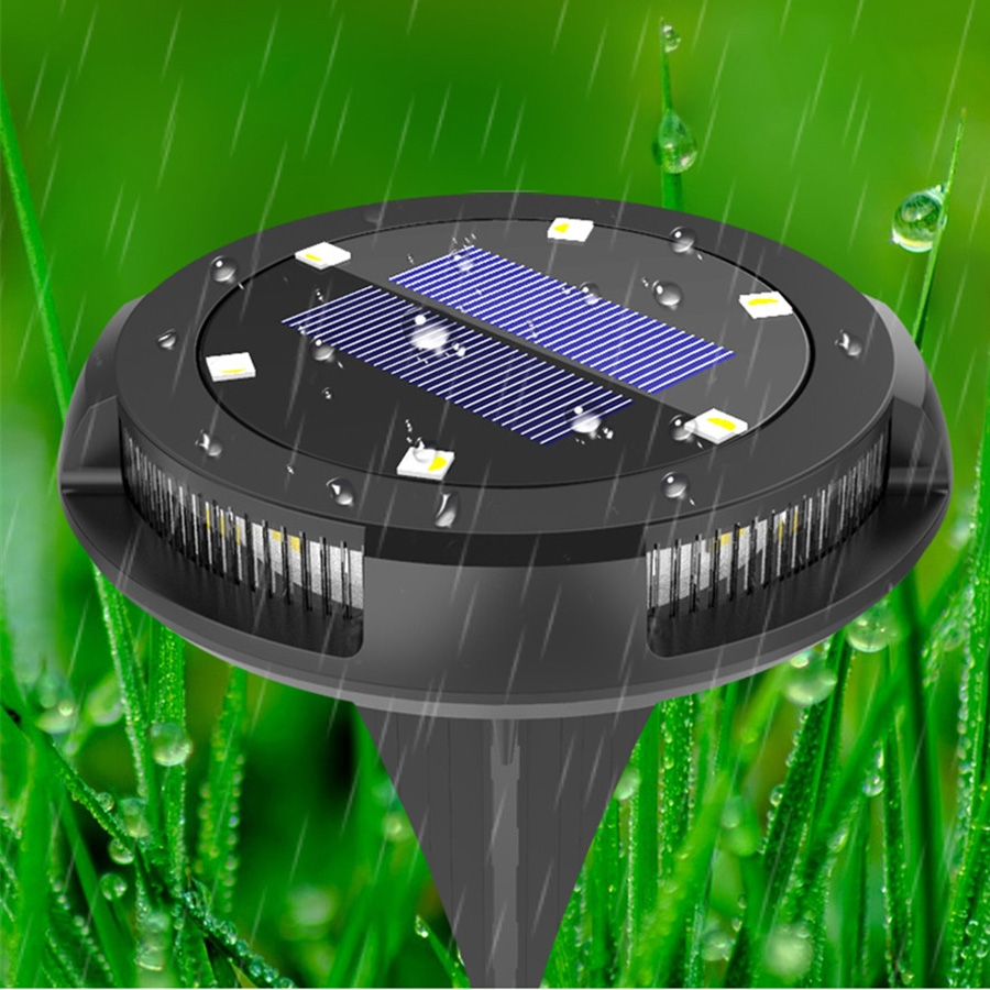 10 led solar powered disk luz caminho