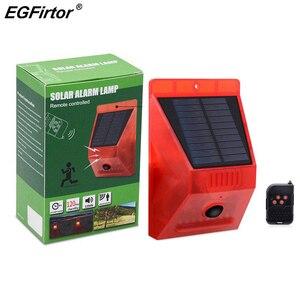 Image 1 - Сигнализация на солнечной батарее с дистанционным управлением, охранная сигнализация с датчиком движения, сирена с пассивным ИК датчиком движения для дома, двора, улицы