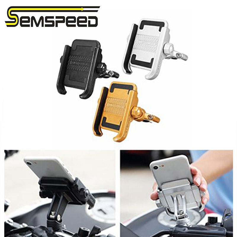 Mobile Phone Holder For <font><b>Yamaha</b></font> <font><b>MT</b></font>-<font><b>07</b></font> FZ-<font><b>07</b></font> <font><b>Tracer</b></font> 700 XSR700 Motorcycle Handlebar Base Rearview Mirror Base Bracket image