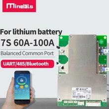 BMS 7S BMS UART/485 ، بلوتوث ، بطارية اتصالات ، لوحة حماية ذكية ثلاثية الليثيوم