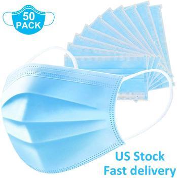 100 sztuk niebieska maska jednorazowa pyłoszczelna włóknina maski na usta przeciwkurzowe maski ochronne do oddychania tanie i dobre opinie LESUKAIM Chin i hongkongu Osobiste NONE Jeden raz Dla dorosłych
