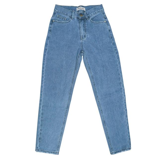 luckinyoyo jean woman mom jeans pants boyfriend jeans for women with high waist push up large size ladies jeans denim 2019 6