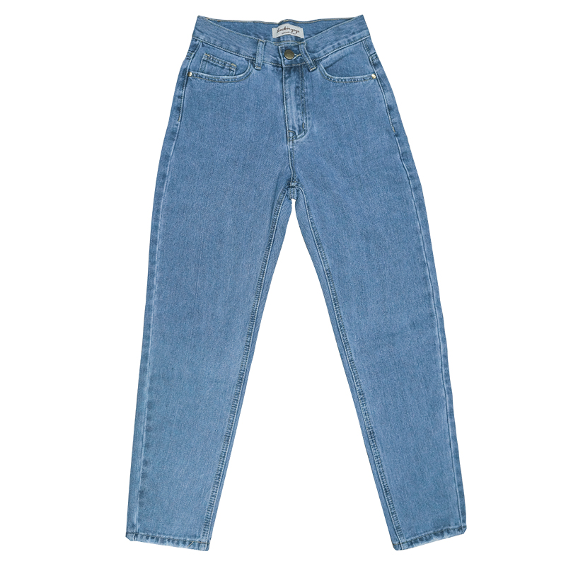luckinyoyo jean woman mom jeans pants boyfriend jeans for women with high waist push up large