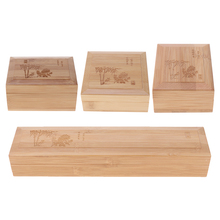 Unpainted Wooden Jewelry Box Display for Pendant Necklace Bracelet Watch Storage Case Chest 4 Sizes Jewelry Packaging