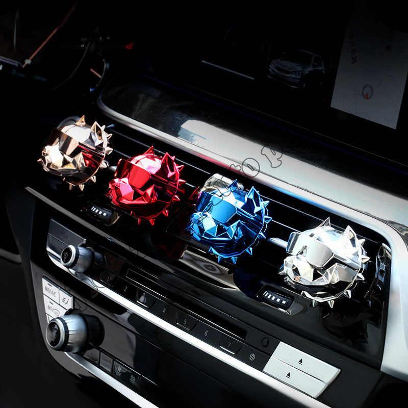 Charm Bulldog รถน้ำหอมรถ air freshener outlet Vent ของแข็งกลิ่น Diffuser อุปกรณ์ตกแต่งภายใน