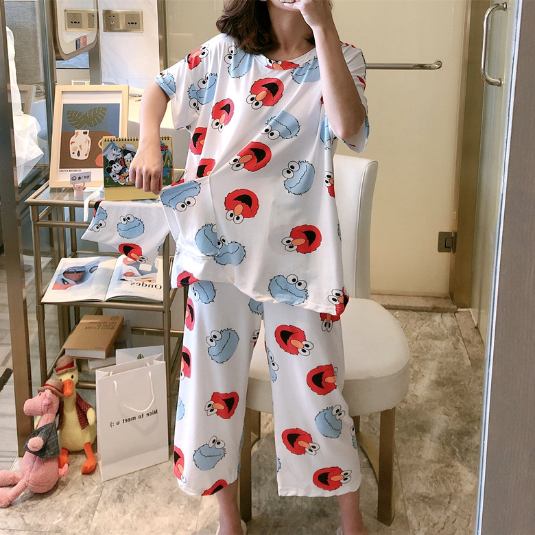 2020 New Fashionable Pajamas For Women Spring Summer Cotton Made Pyjamas For Girl Casual Comfortable Sleepwear 2 Pcs
