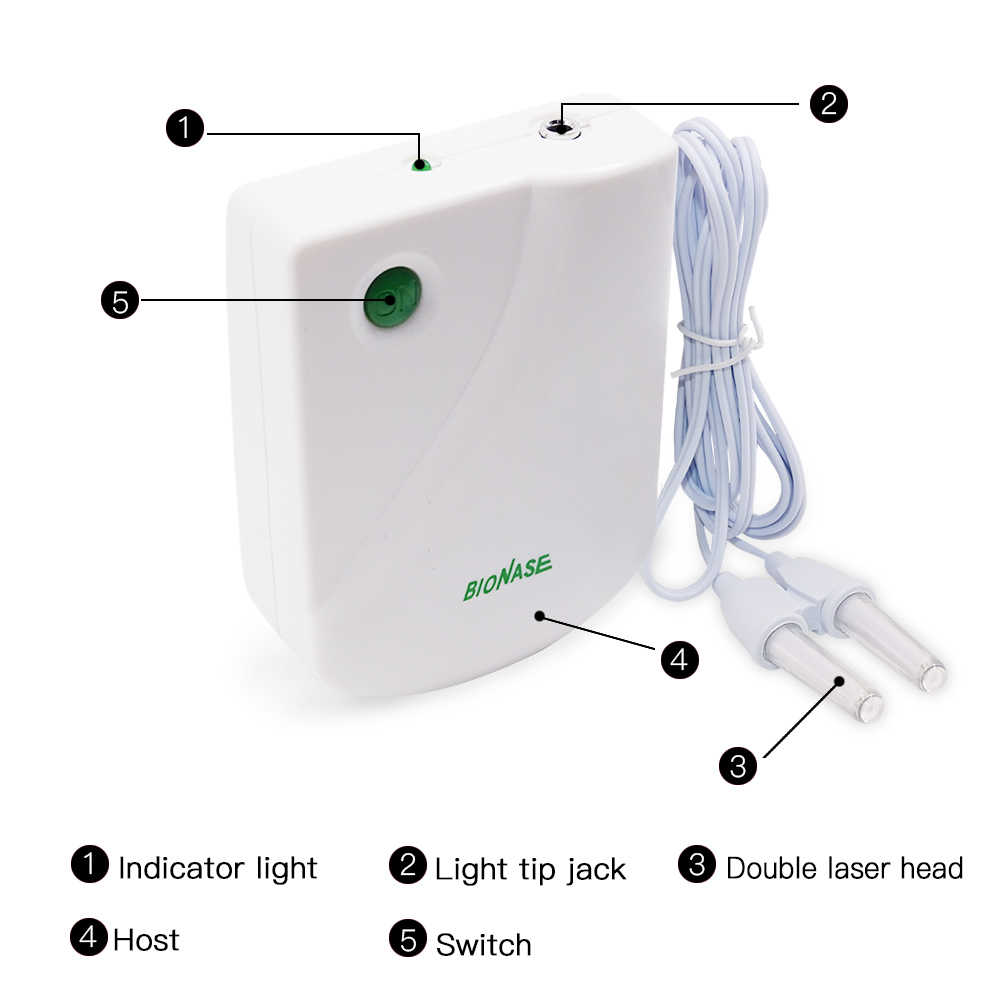Dropshipping 1 PC האף טיפול נזלת סינוסיטיס לרפא טיפול עיסוי חציר חום נמוך תדר דופק לייזר האף בריאות מכונה