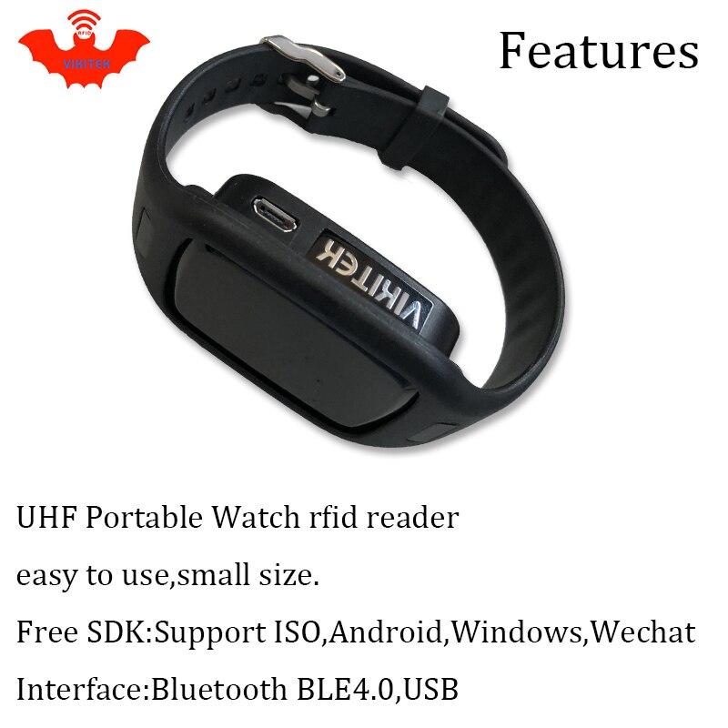 Купить с кэшбэком UHF RFID reader pocket portable mini watch reader bluetooth connect Mobile phone easy use small usb android chip writer copier