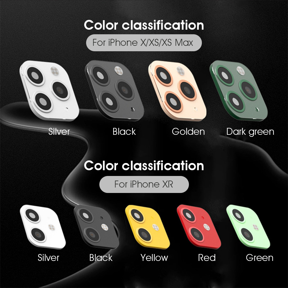 He10f51c552f64fa680f9d9d31f4095a7m - 3D Alumium Camera Lens Seconds Change for iPhone 11 Pro Max Lens Ring Cover Sticker For iPhone X R XS MAX Rear Protective Cover
