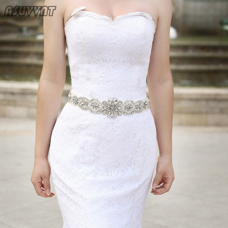 Luxury Women Belt Crystal Belt For Bride Wedding Dress Girdle Rhinestone Inlaid Tie Belt For Girl Party Evening Dress Up