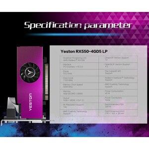 Image 5 - Yeston Radeon mini RX 550 GPU 4GB GDDR5 128bit 게임용 데스크탑 컴퓨터 PC 비디오 그래픽 카드 VGA/DVI D/HDMI PCI E 3.0 지원