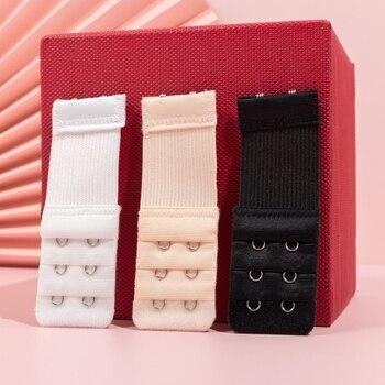 2 Hook Bra Extender For Women's Elastic Bra Extension Strap Hook Clip Expander Adjustable Belt Buckle Intimates 1/3/4 Pcs 1