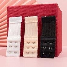 2 gancho sutiã extensor para feminino elástico sutiã extensão cinta gancho clipe expansor ajustável fivela de cinto intimate 1/3/4 pçs