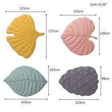 Newborn Baby Cotton Carpet Blanket Leaf Shape Crawling Play Mat Rug Room Decor L9CD