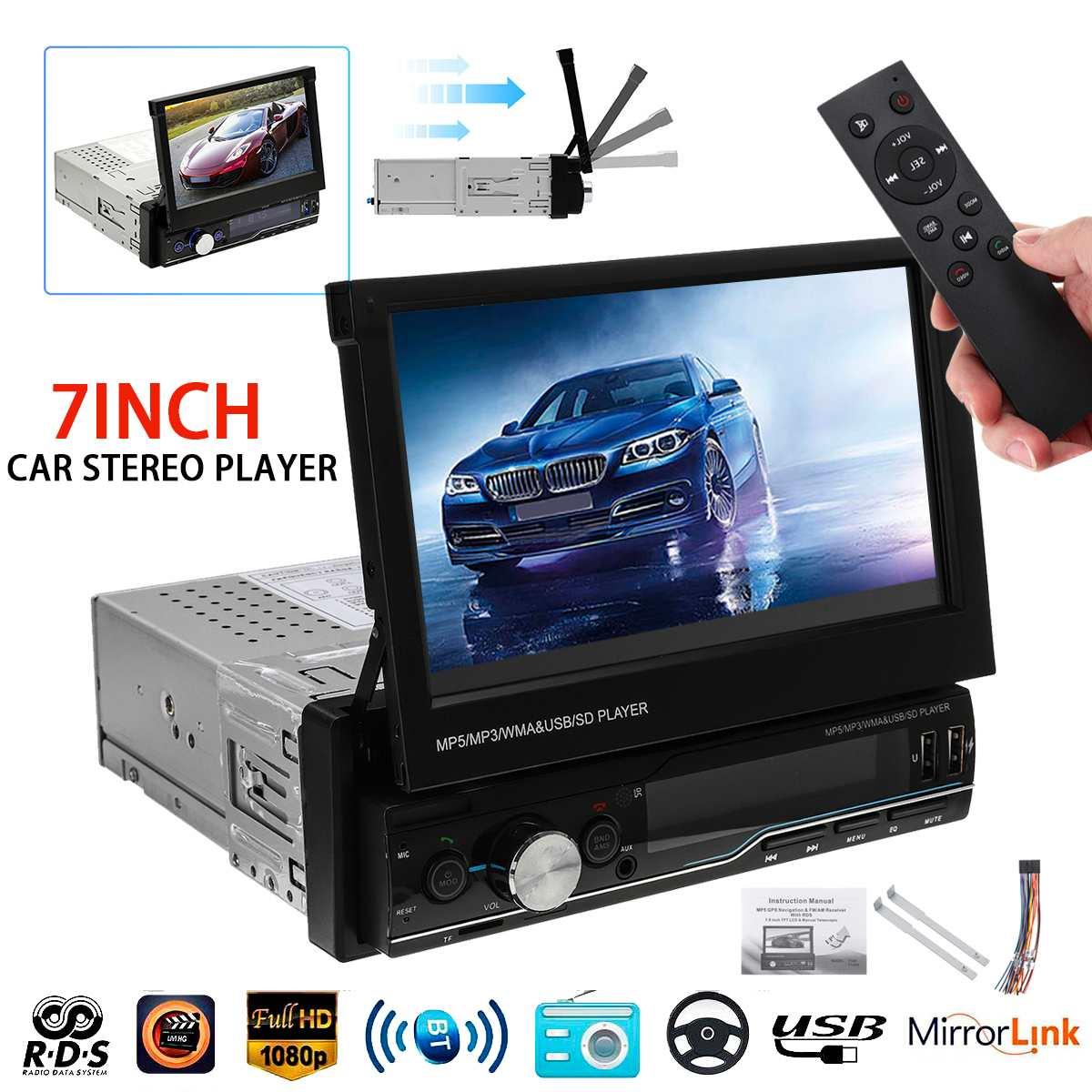 7 1 Din HD Autoradio Autoradio Autoradio lettore MP5 lettore multimediale vivavoce FM AM bluetooth USB MP4 AUX T100