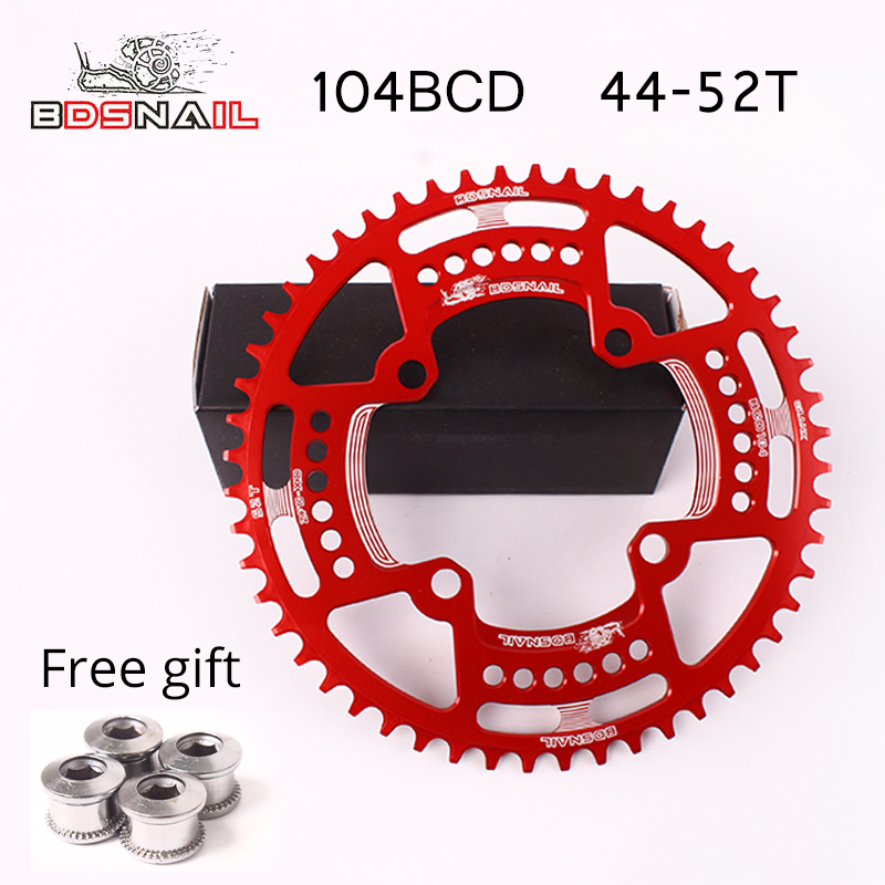 40T 42T Round Chainring SNAIL BCD104 MTB Road Bike Single Narrow Wide Chainrings