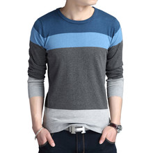 BROWON Men Brand Sweater Autumn Sport Sweaters Sweater Leisure Pullover Long Sleeves Male Sweater Striped Slim Fit Sweaters Men(China)
