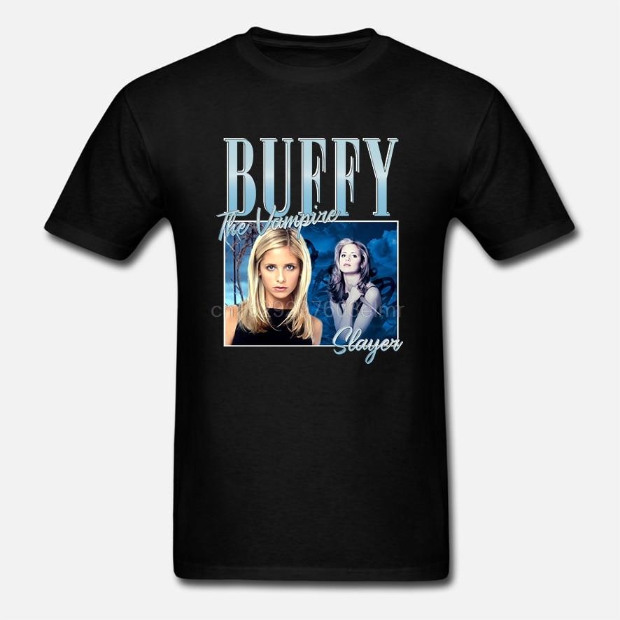 Inspirado por buffy o vampiro slayer camiseta merch tour limitado vintage raro