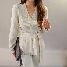 Женские свитера в Корейском стиле Осенний вязаный деловой свитер