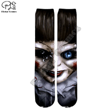 Halloween gift Annabelle 3 Comes Home Socks Harajuku 3d skull Print Men Women Funny socks summer spring autumn winter Long Sock p dyson after winter there always comes spring