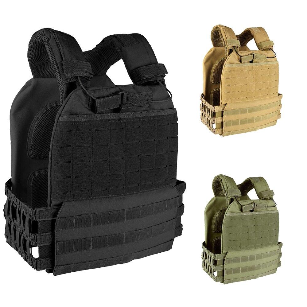 600D Tactical Weight Vest Plate Carrier Adjustable Combat Vest Training Fitness