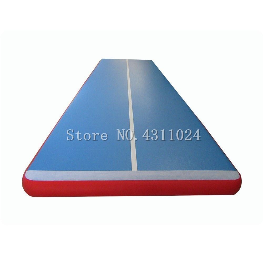 Livraison gratuite 10x1x0.2m Air dégringolade piste tapis, Air dégringolade piste Set gonflable Airtrack gymnastique tapis avec pompe à Air électrique