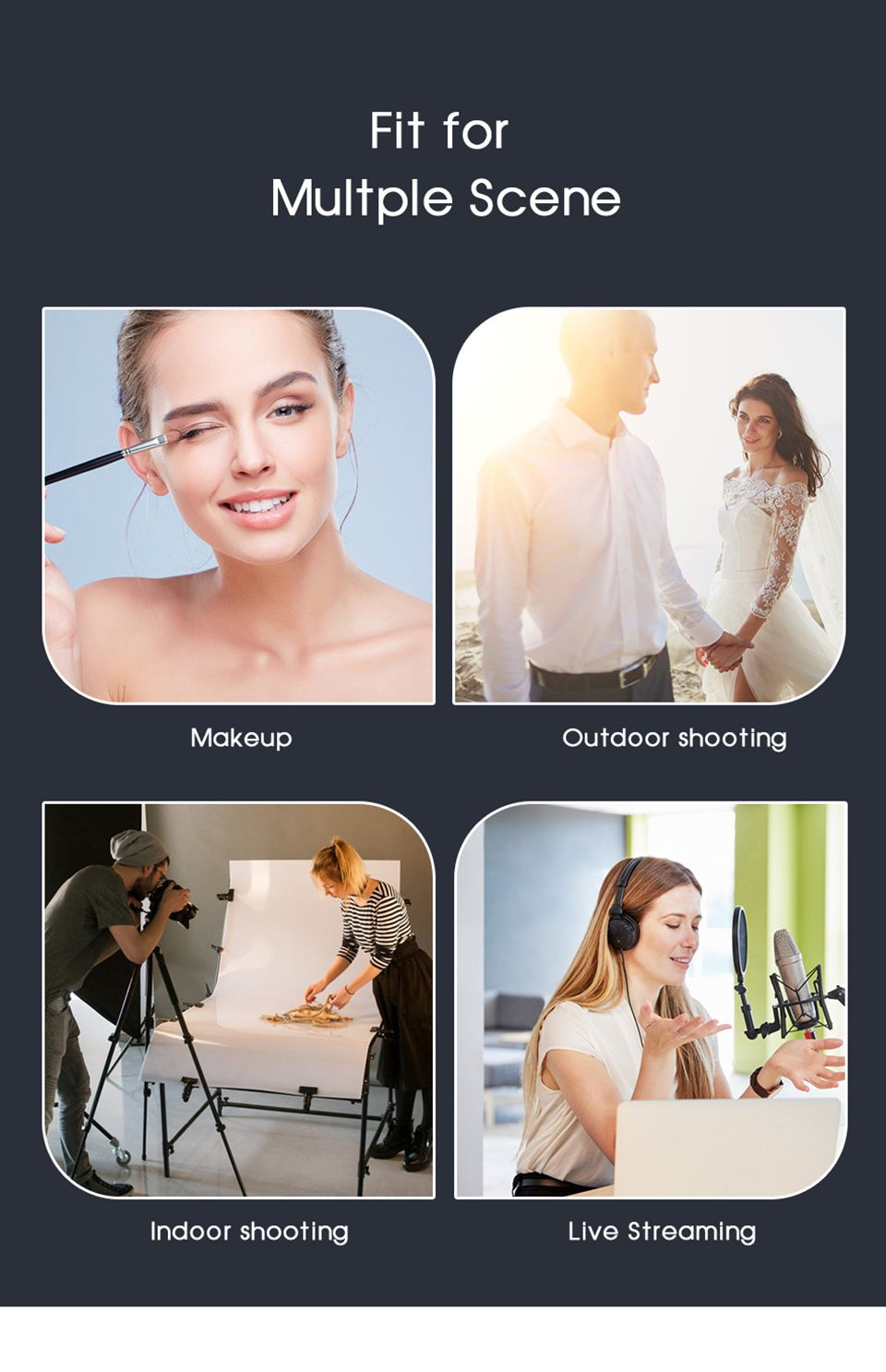 H8ed19637ac364e969bb5169eef4873d6P Selfie Ring Light with Tripod Stand