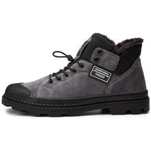 Martin boots men's winter plus velvet warm cotton boots wild military boots men's snow boots boots boots high shoes men's boots