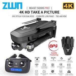 Image 1 - Drone GPS ZWN SG906 / SG906 Pro, avec caméra Wifi FPV 4K HD, quadrirotor sans brosse à cardan, auto stabilisant à deux axes