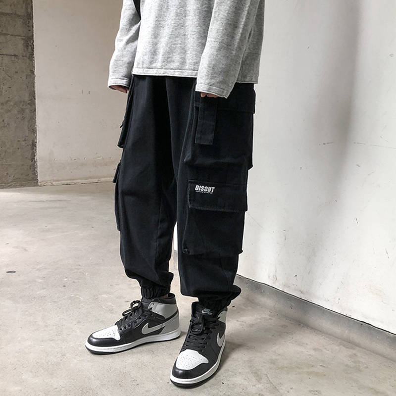 Autumn Mens Oversize Cargo Hip Hop Ins Pants Casual Loose Side Pocket Style Joggers Hot Sale High Quality Streetwear Trousers