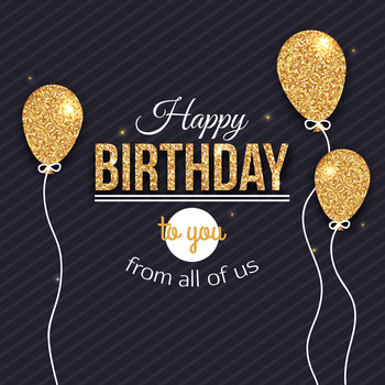 Birthday Party Banner Photography Backdrop Gold Black Sparkly Balloon Desserts Table Photocalls Studio PhotoshootHZ1092 - discount item  43% OFF Camera & Photo