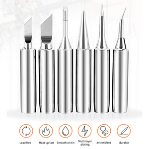 5pcs Iron Nozzle Silver Electric Iron Heads Welding Rework Tool High Quality for 936 soldering station